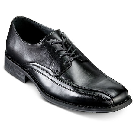 JF J. Ferrar Derby Mens Dress Shoes, 9 1/2 Wide, Black