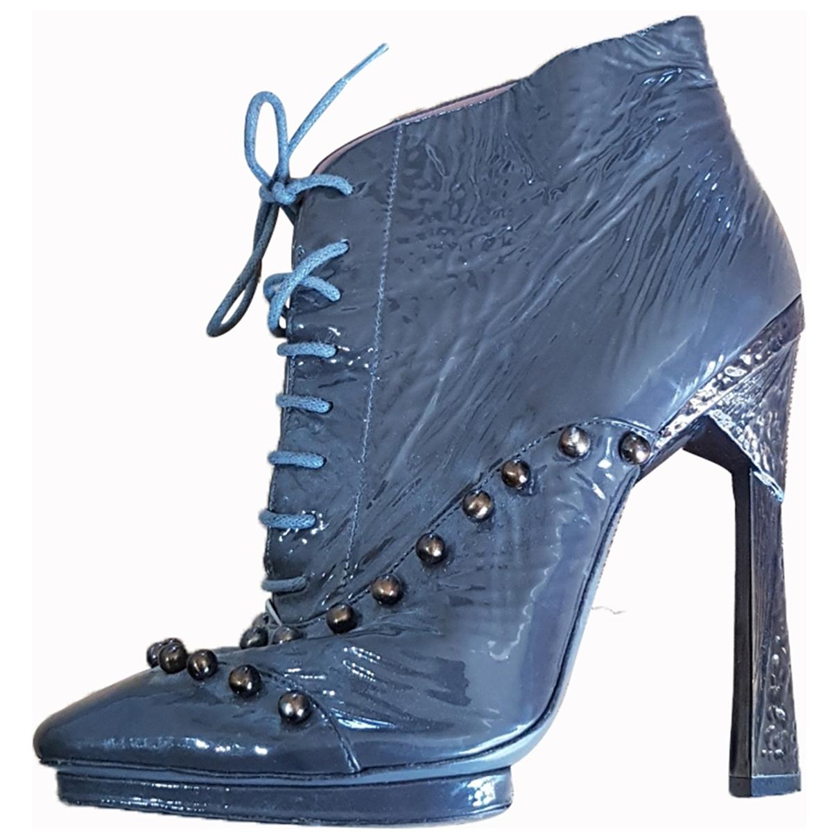 Missoni - Boots   pour femme en cuir - anthracite