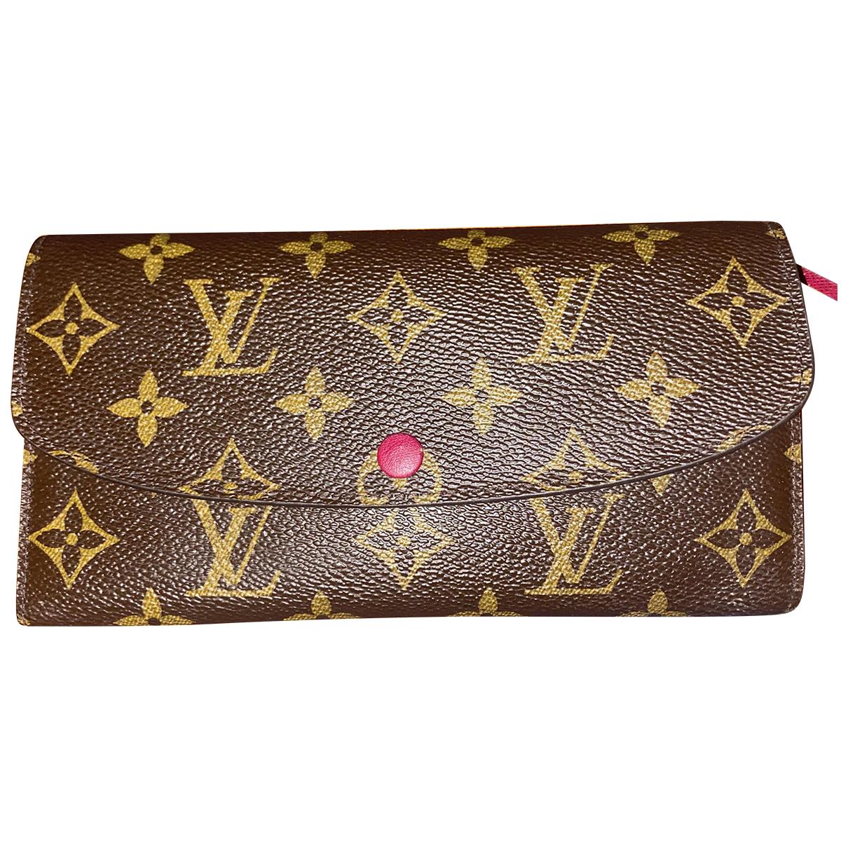 Louis Vuitton - Portefeuille Emilie pour femme en toile - beige