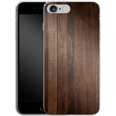 Apple iPhone 6s Plus Silikon Handyhuelle - Dark Wood Floor von caseable Designs