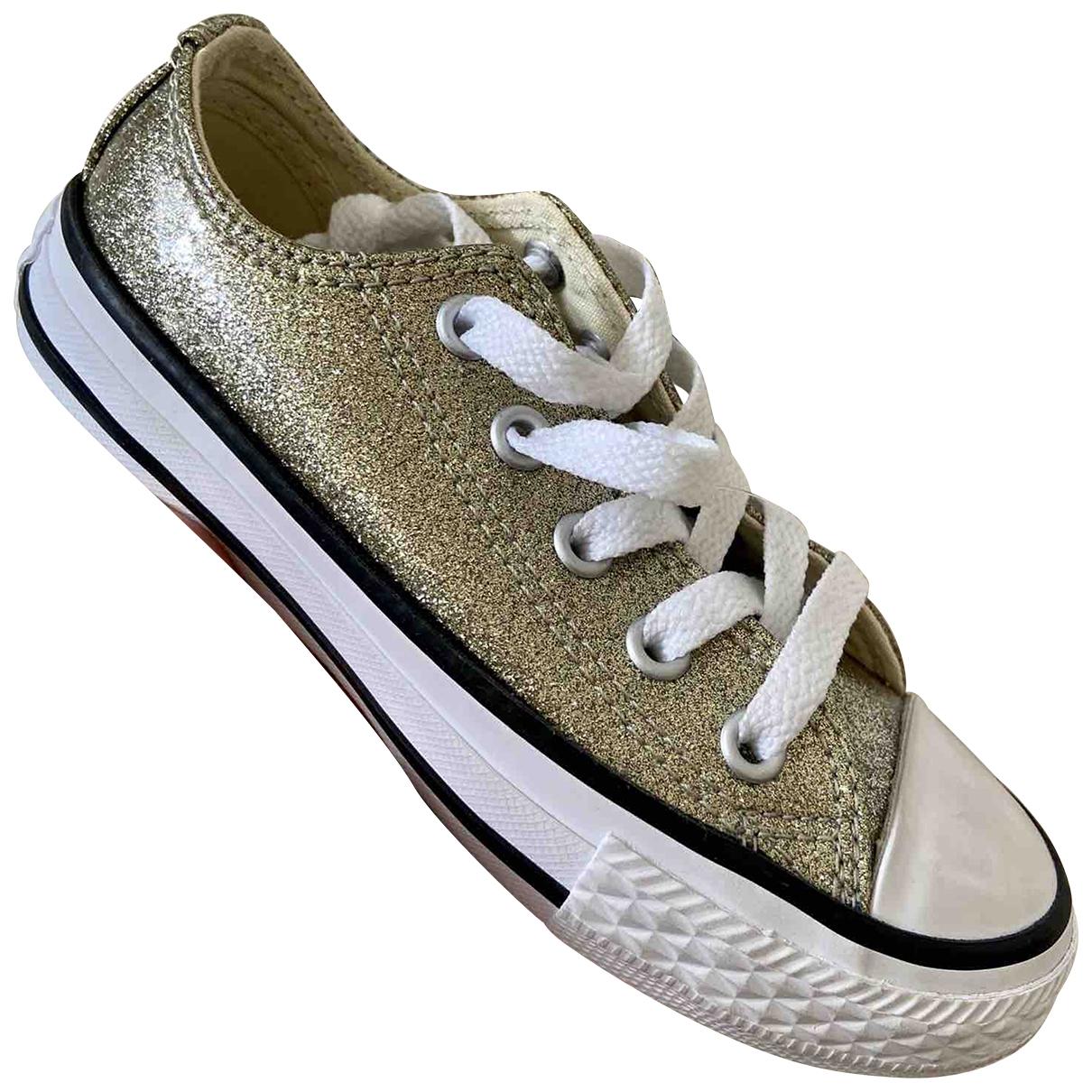 Converse \N Gold Glitter Trainers for Kids 28 EU