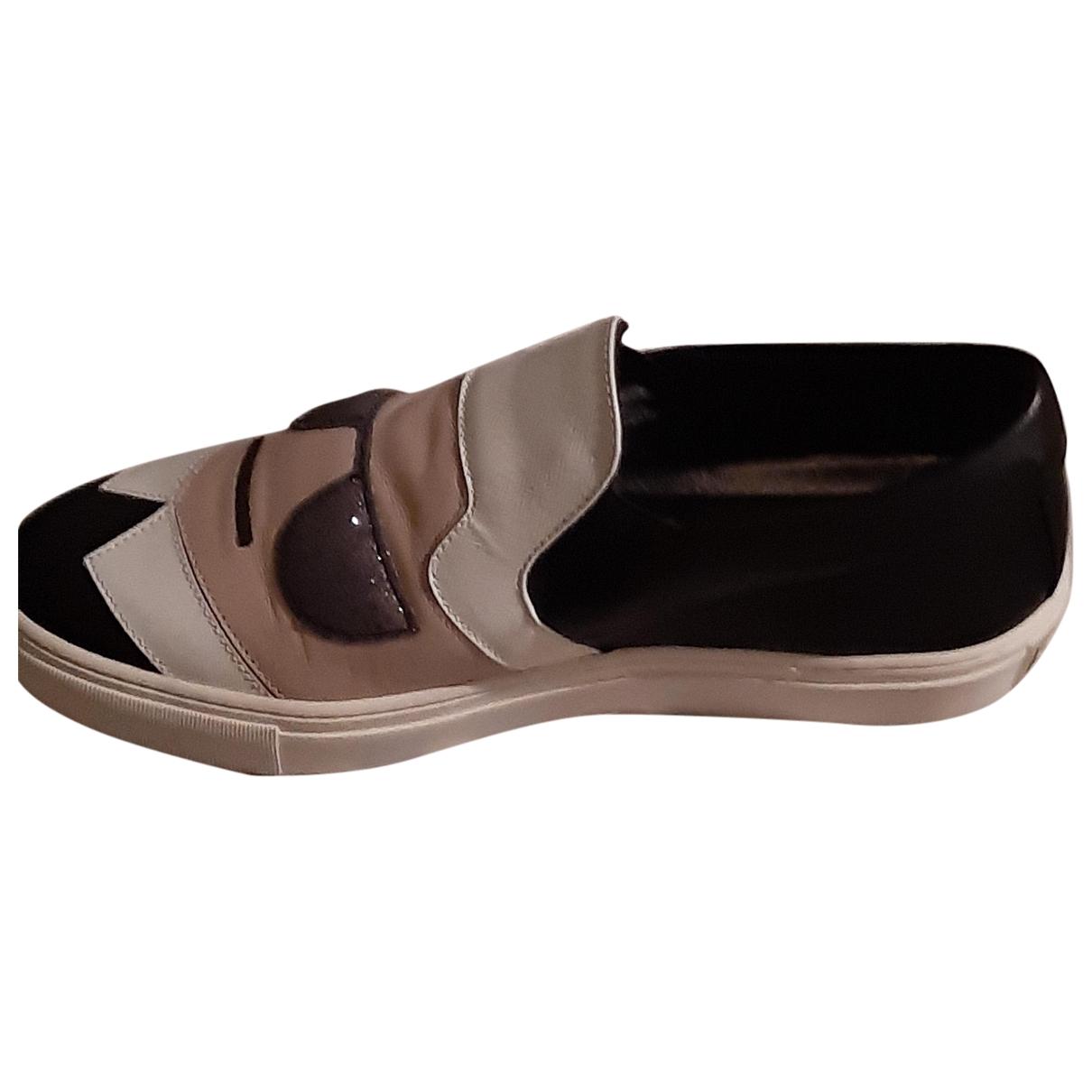 Karl - Baskets   pour femme en cuir - noir