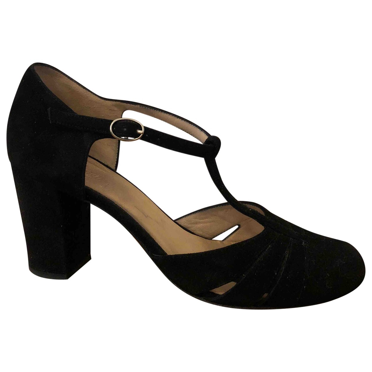 Non Signé / Unsigned \N Black Suede Sandals for Women 38 IT