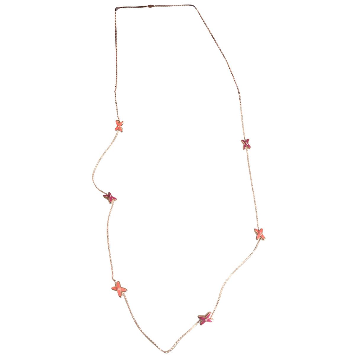 Chaumet - Sautoir Liens pour femme en or rose - rouge
