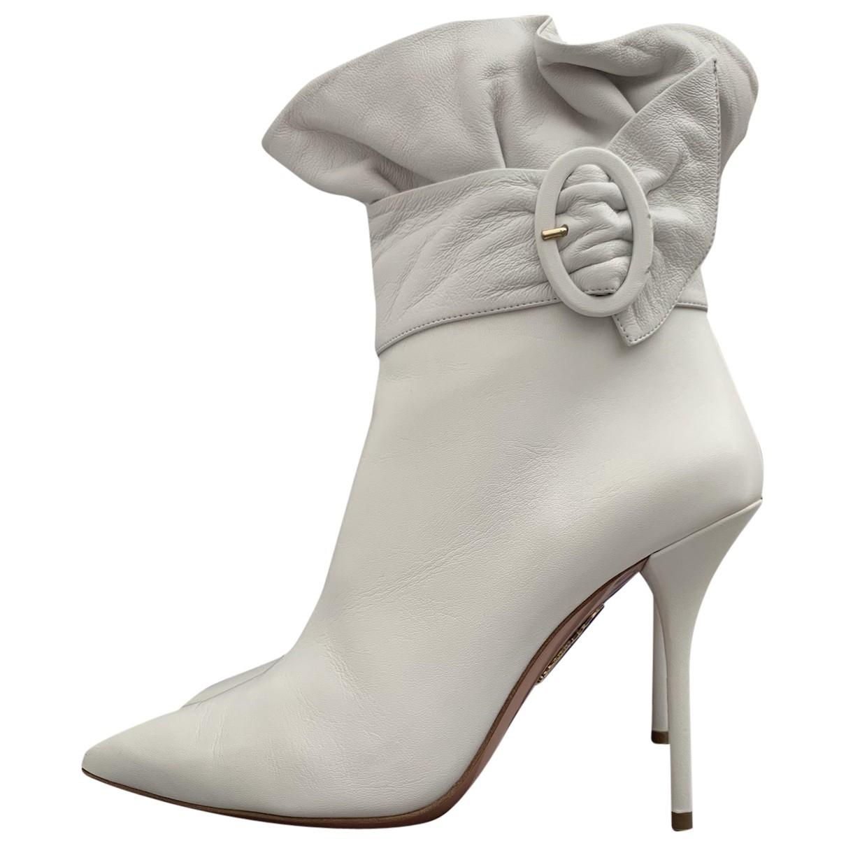 Aquazzura - Bottes   pour femme en cuir - blanc