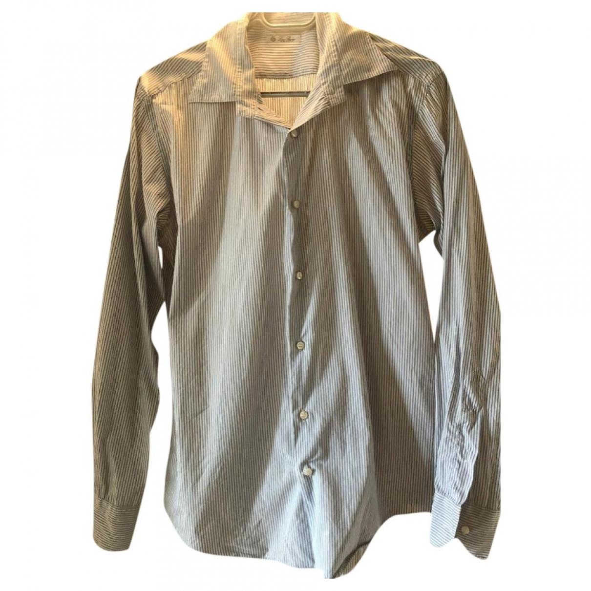 Loro Piana \N Beige Cotton Shirts for Men 42 FR