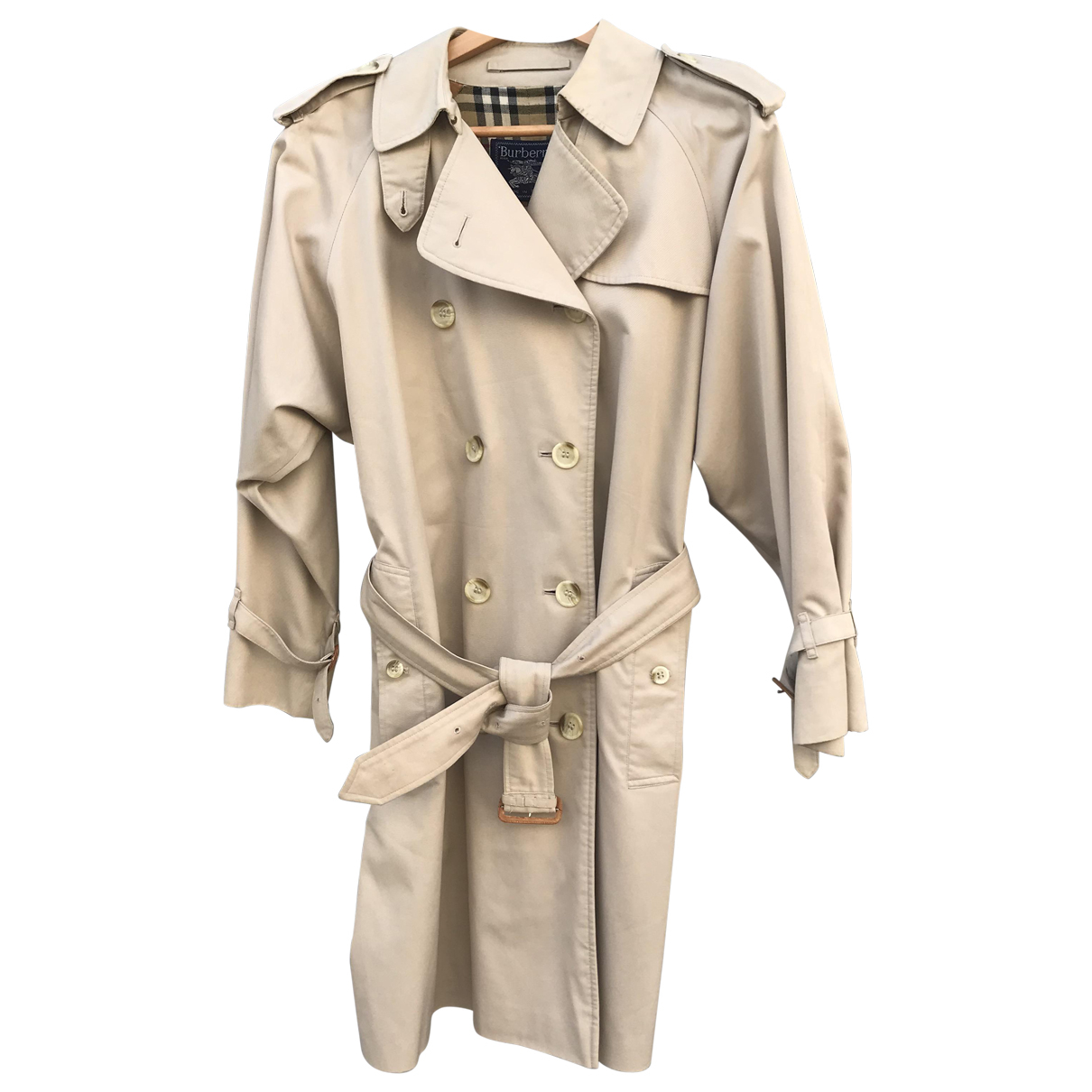 Burberry \N Trench in  Beige Synthetik