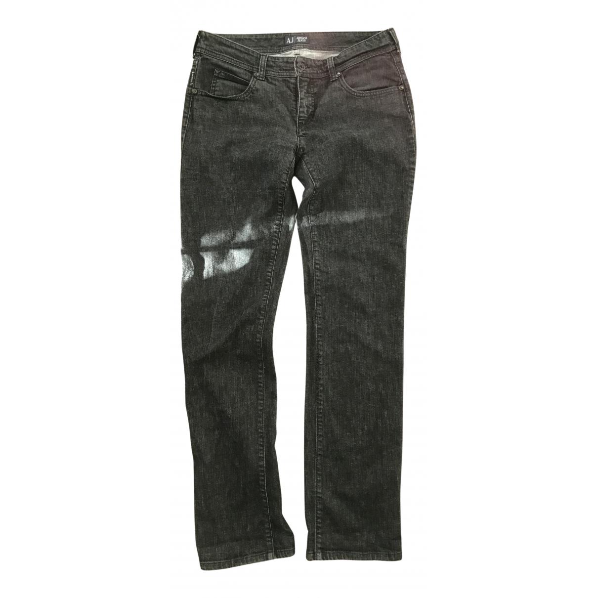 Armani Jeans N Black Cotton - elasthane Jeans for Women 30 US