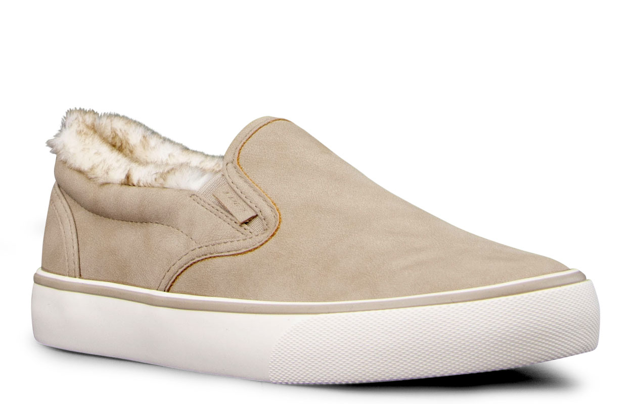 Women's Clipper Lx Fur Oxford Sneaker (Choose Your Color: FAWN/CREAM/OFF WHITE, Choose Your Size: 9.0)