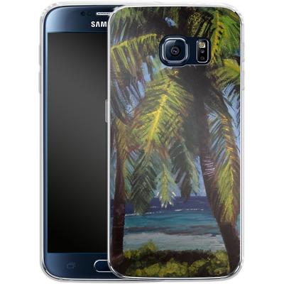 Samsung Galaxy S6 Silikon Handyhuelle - Palms von Kaitlyn Parker