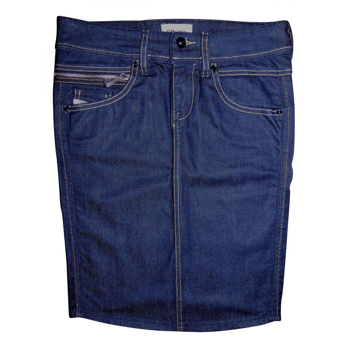 Diesel \N Blue Denim - Jeans skirt for Women 38 IT