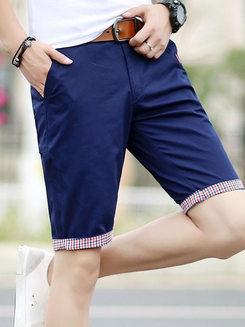 Ericdress Plain Slim Harem Casual Low Waist Men's Shorts