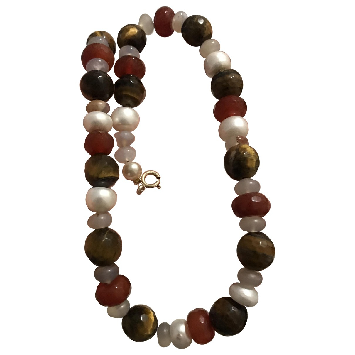 Non Signé / Unsigned Nacre Multicolour Pearls necklace for Women N