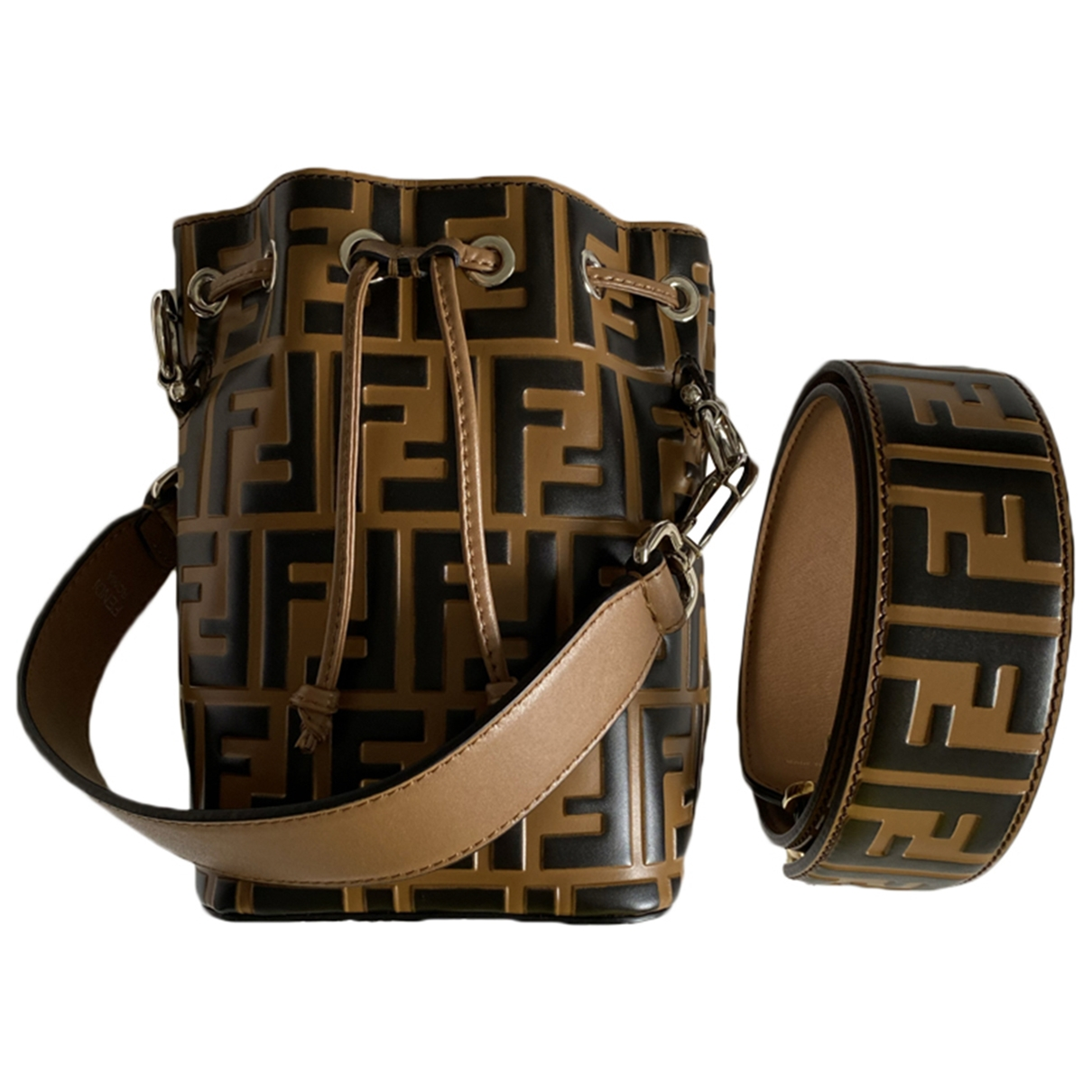 Fendi Mon Trésor Brown Leather handbag for Women \N