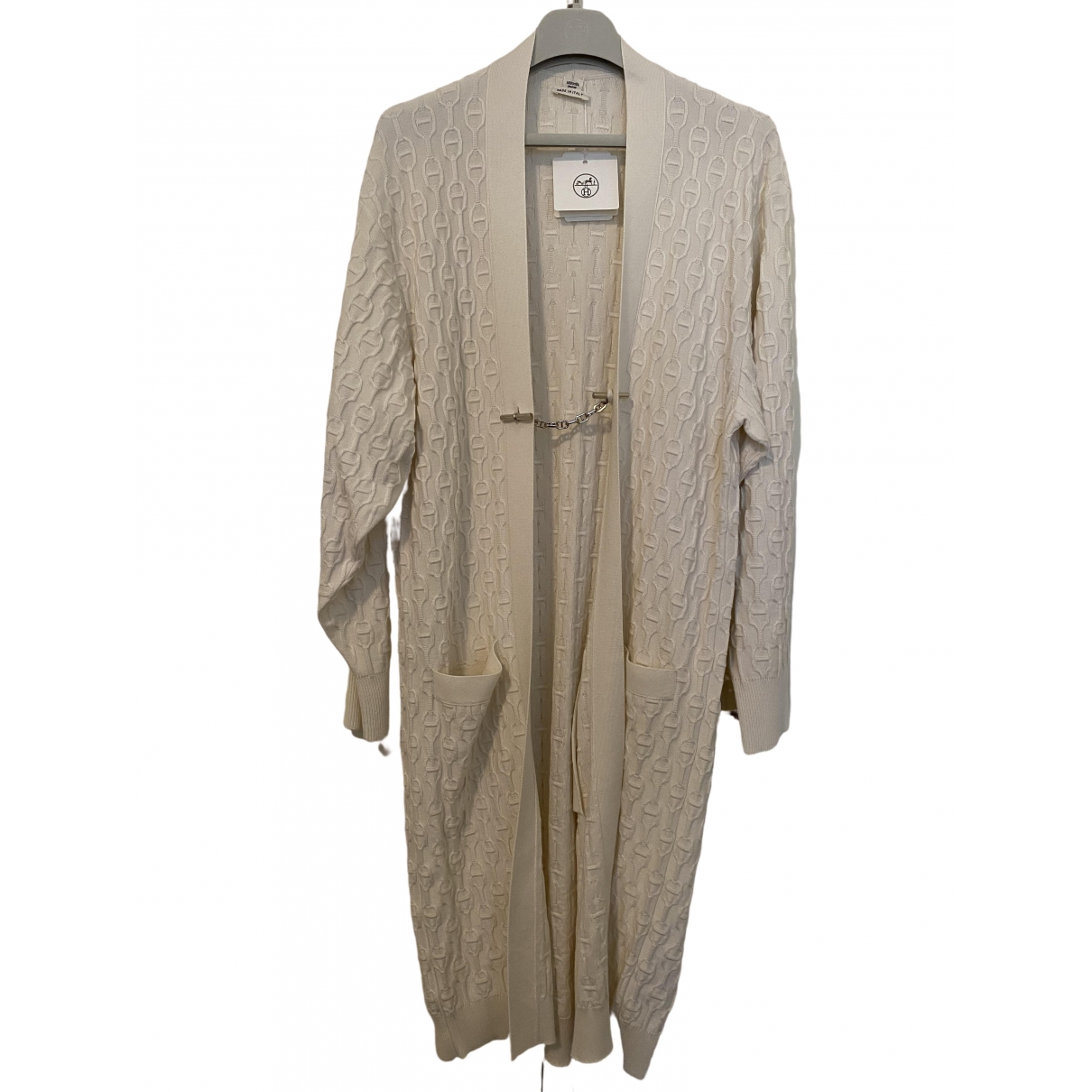 Hermès \N White Cashmere Knitwear for Women 34 FR