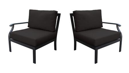 KI062b-LRAS-BLACK Madison Ave. Left Arm Chair and Right Arm Chair with 1 Set of Snow and 1 Set of Onyx