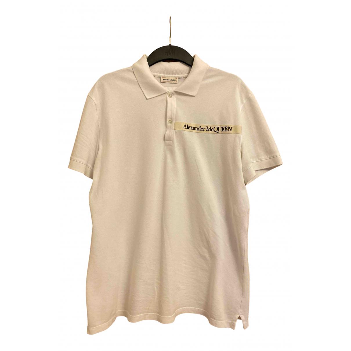 Alexander Mcqueen - Polos   pour homme en coton - blanc
