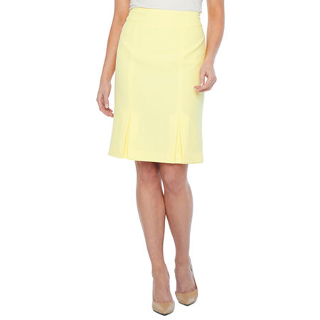 Black Label by Evan-Picone Suit Skirt, 18 , Yellow