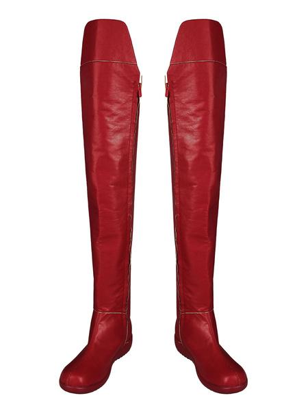 Milanoo Halloween Serie CC Supergirl cosplay Botas Supergirl Kara Kent PU Cosplay Calzado