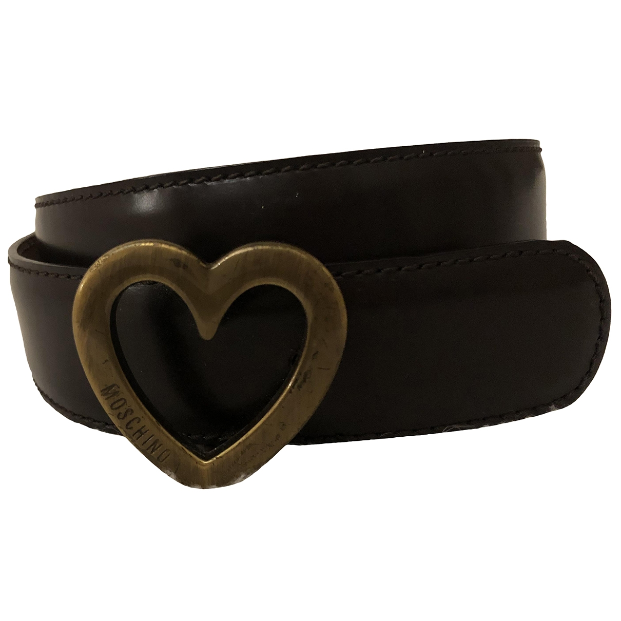 Moschino \N Brown Leather belt for Women 90 cm