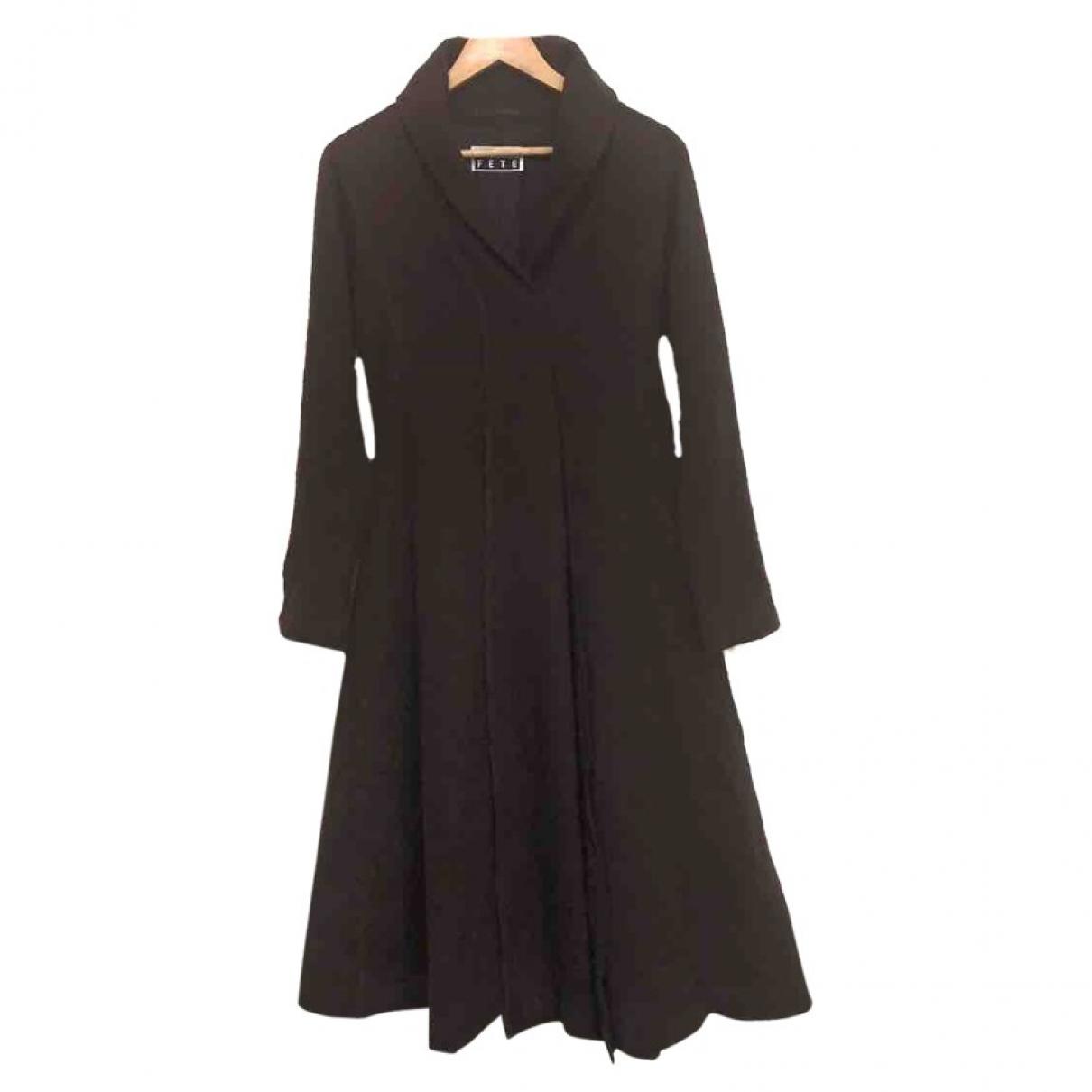 Issey Miyake \N Kleid in  Braun Wolle