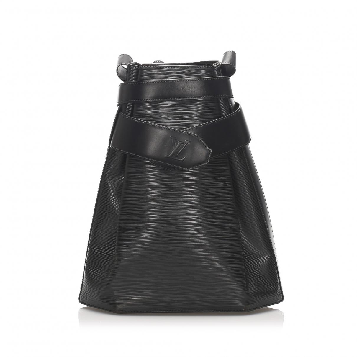 Louis Vuitton - Sac a dos   pour femme en cuir - noir