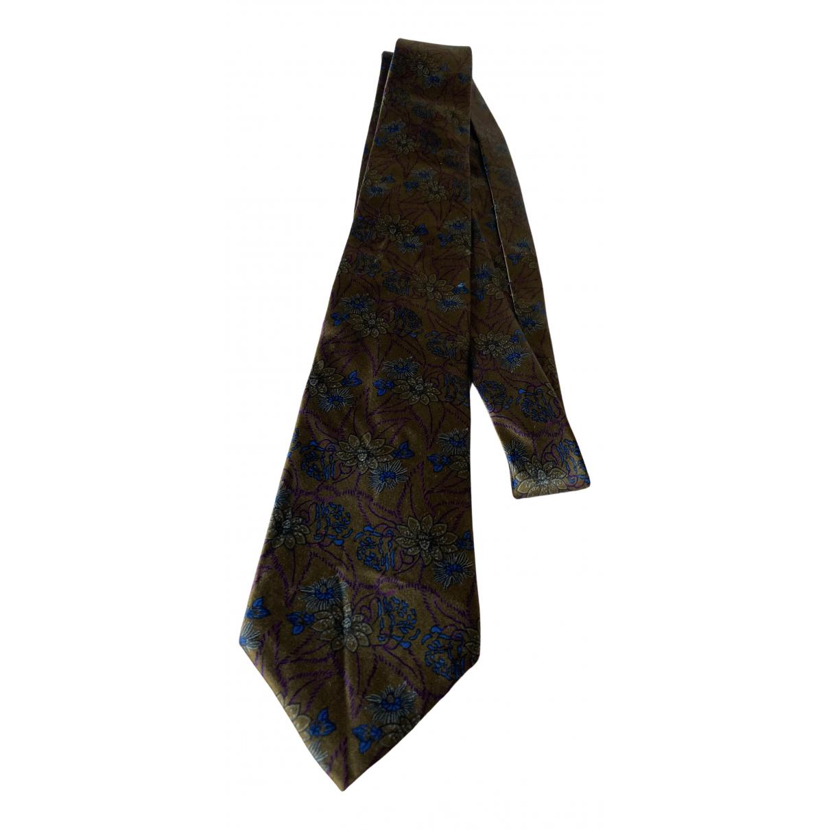Dior \N Krawatten in  Braun Seide