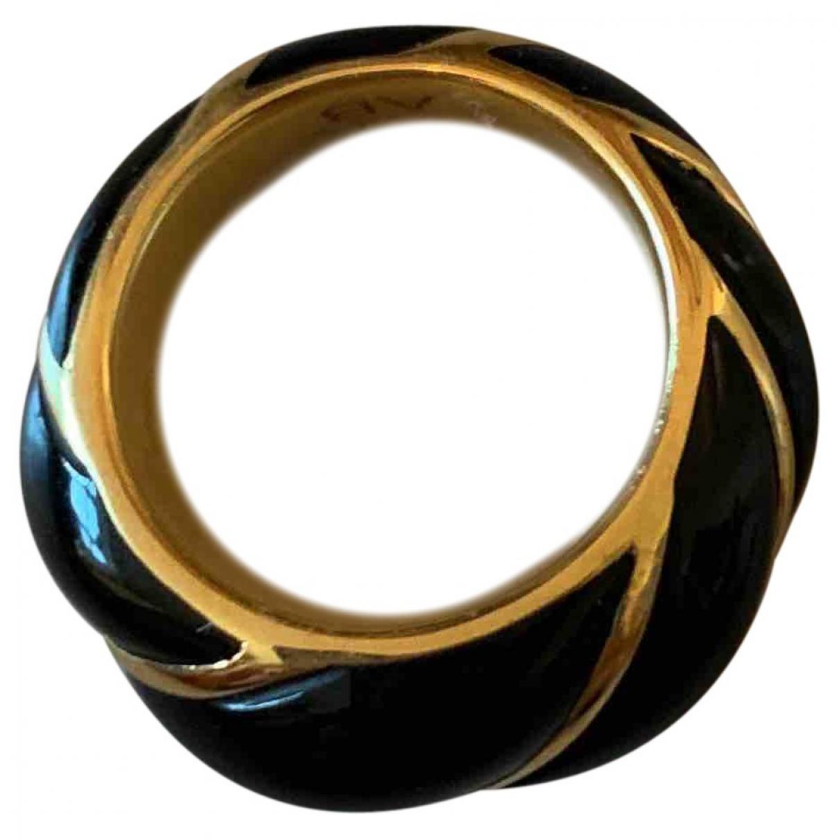 Aurelie Bidermann Diana Ring in  Schwarz Gelbgold