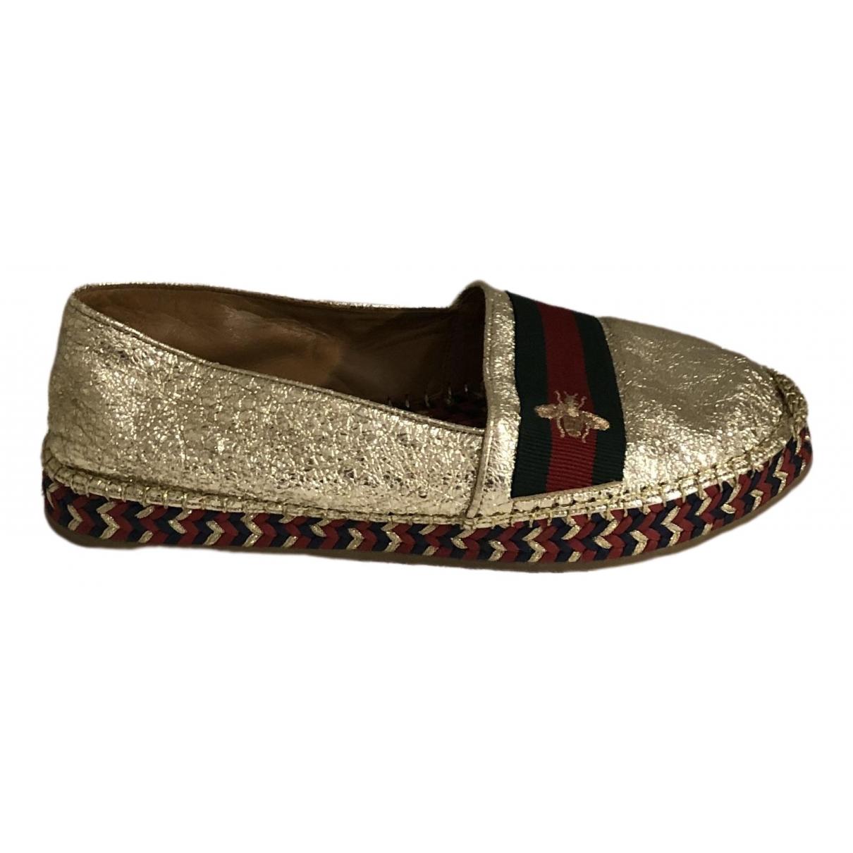 Gucci \N Gold Cloth Espadrilles for Women 38 EU