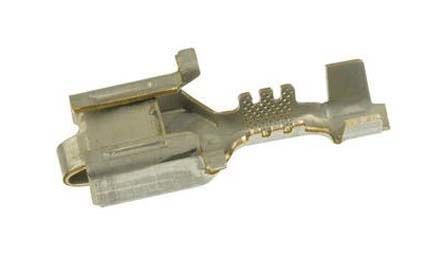 TE Connectivity Crimp Receptacle, 6.3 x 0.8mm, 0.5mm² to 0.8mm², 20AWG to 18AWG, Tin Plated 26A13 (25)