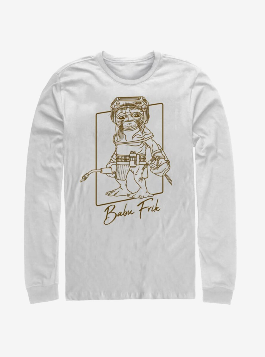 Star Wars Episode IX The Rise Of Skywalker Babu Outline Long-Sleeve T-Shirt