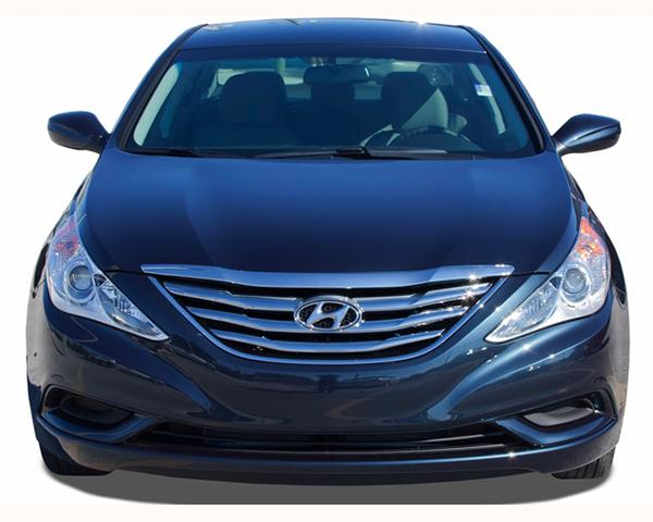 Quality Automotive Accessories ABS | Chrome Grill Overlays Hyundai Sonata 2012