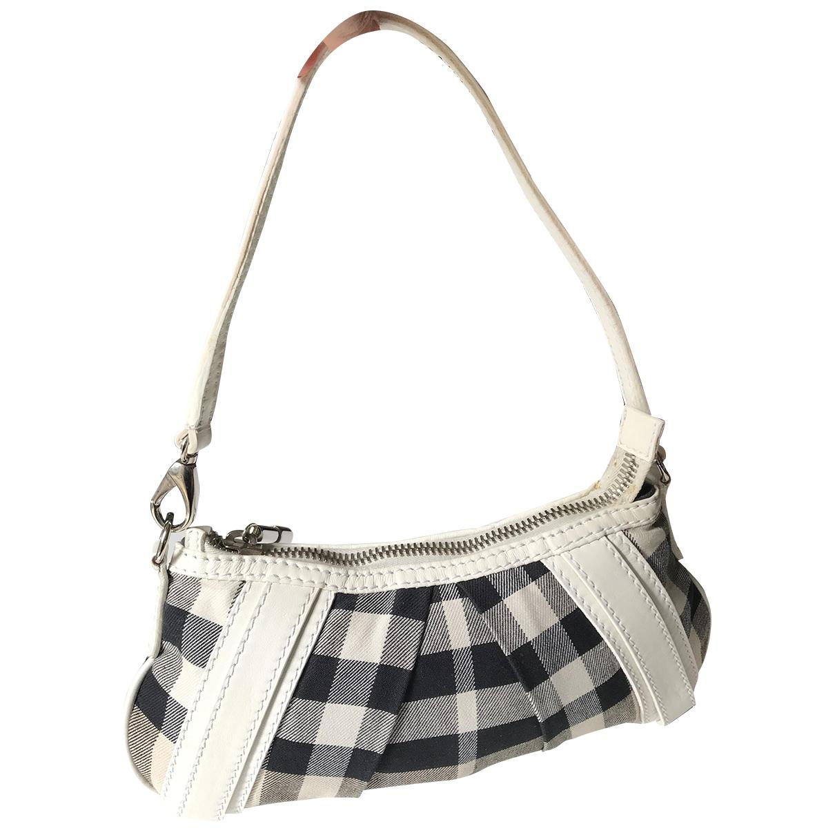 Burberry \N Handtasche in  Ecru Baumwolle