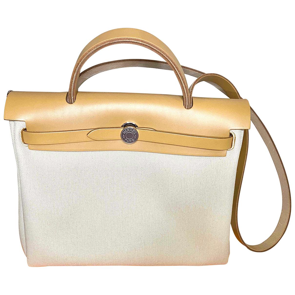 Hermès Herbag Beige Cloth Travel bag for Women N