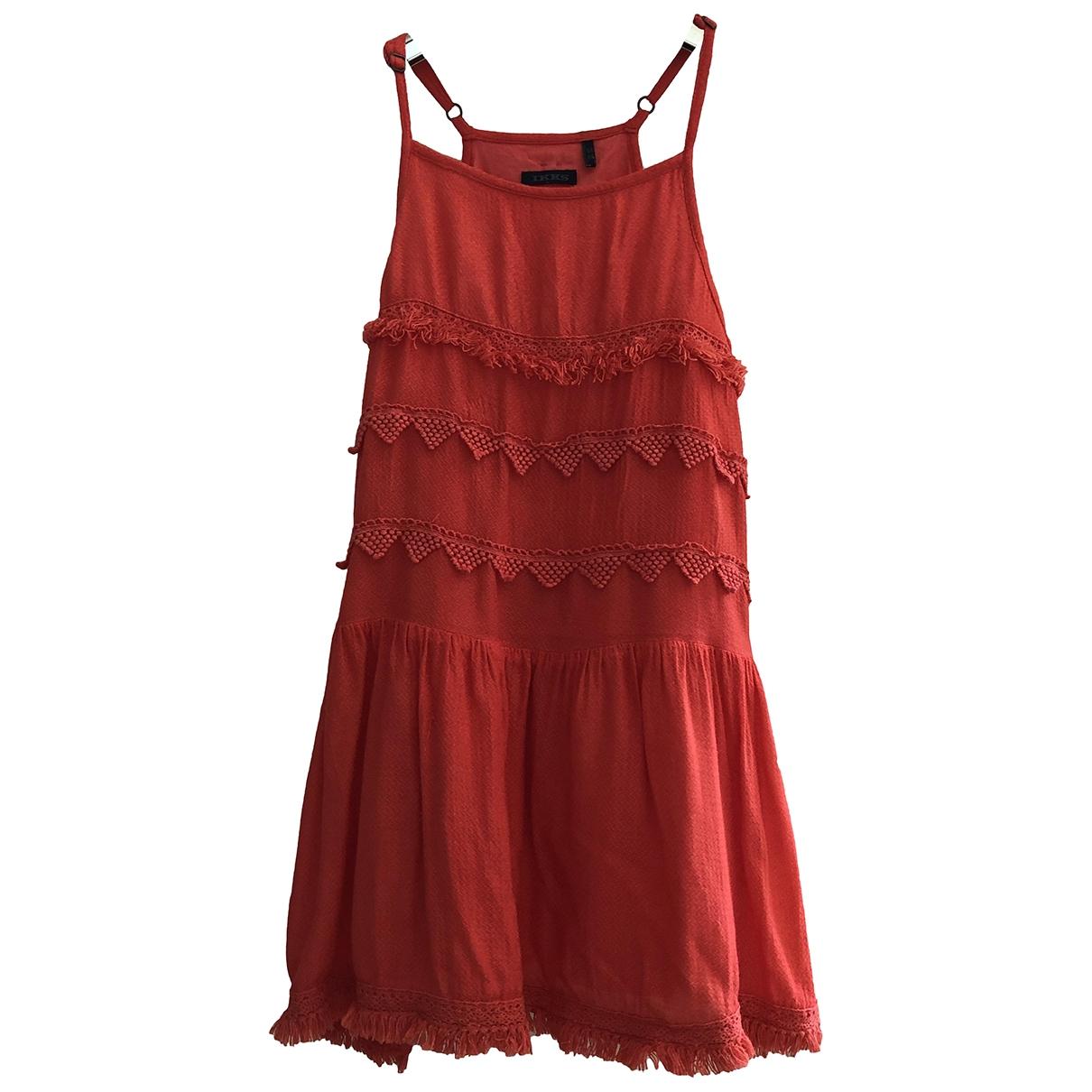 Ikks \N Kleid in  Orange Baumwolle