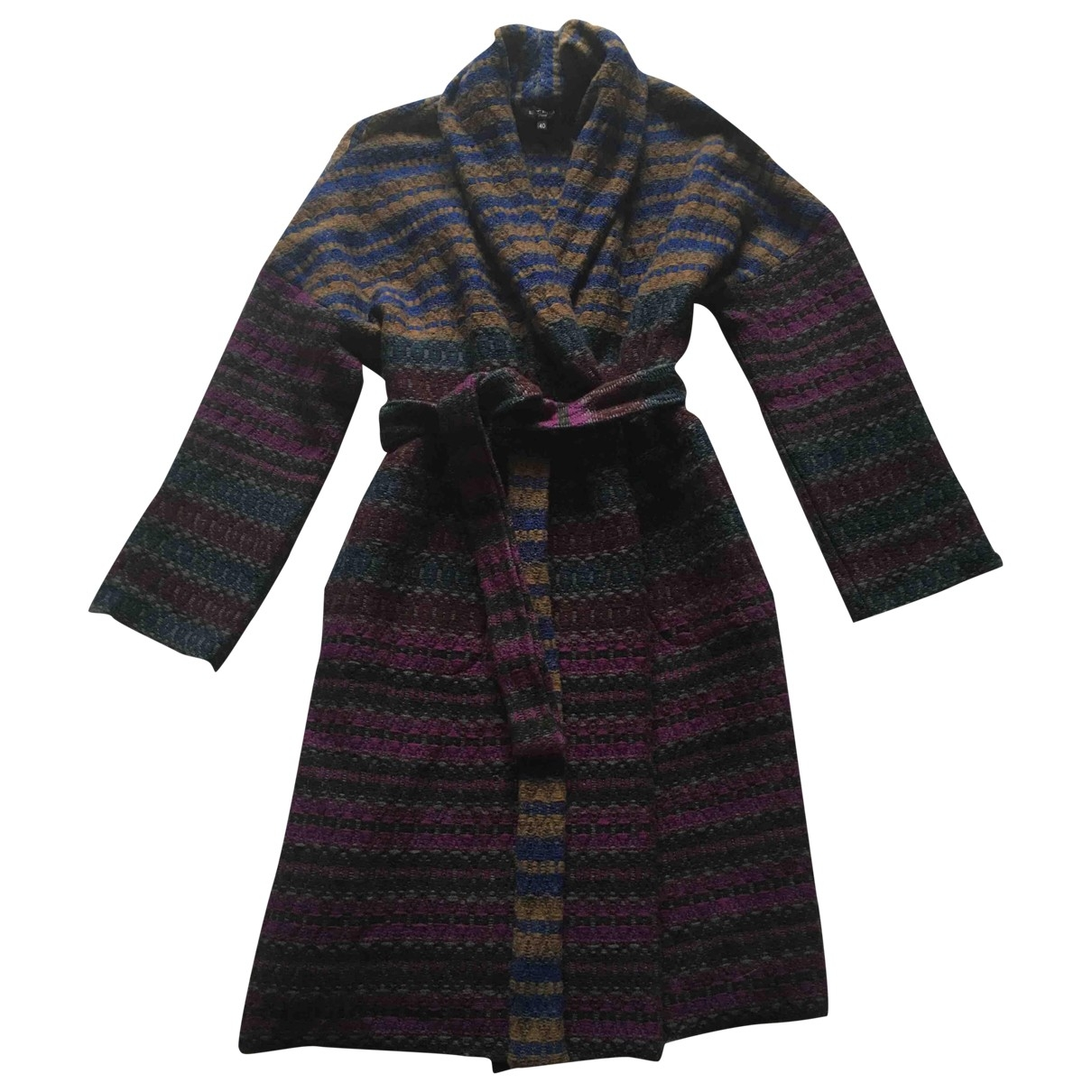 Etro \N Multicolour Wool coat for Women 40 IT
