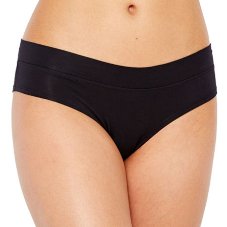 Ambrielle Cotton Modal Cheeky Hipster, X-large , Black
