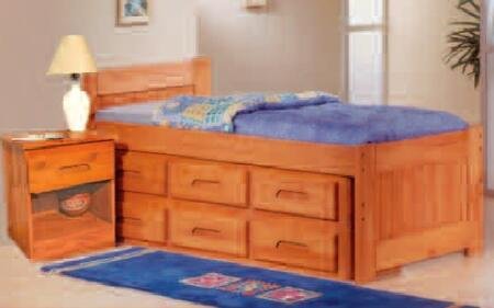 505CN Dual Underbed Drawers with Casters in Cinnamon