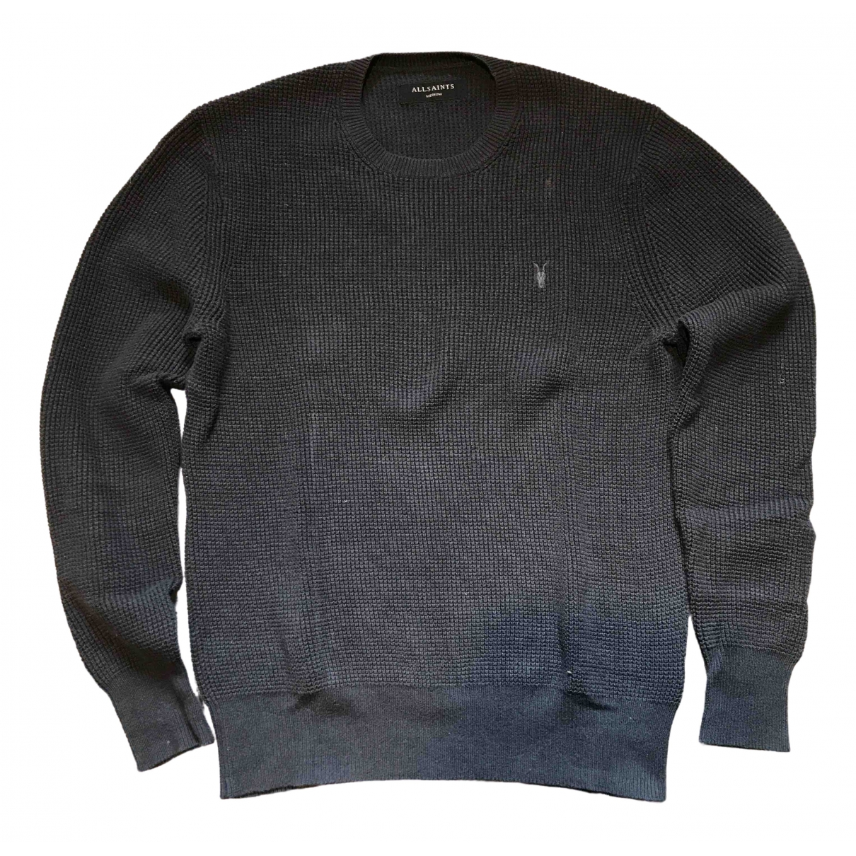 All Saints \N Black Cotton Knitwear & Sweatshirts for Men M International