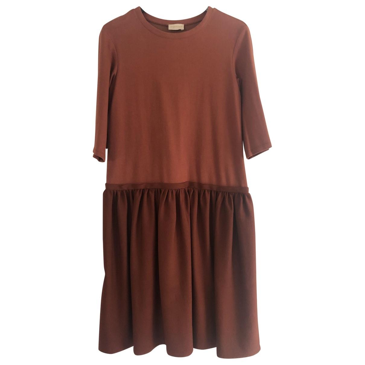 Momoni \N Kleid in  Orange Wolle
