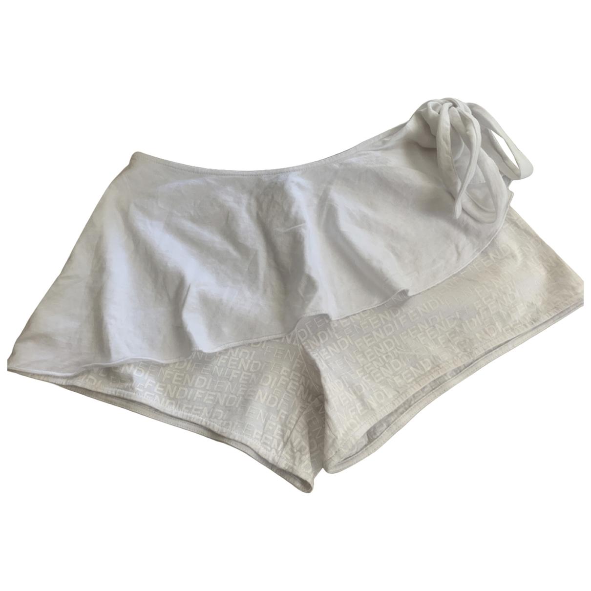 Fendi \N Shorts in  Weiss Baumwolle