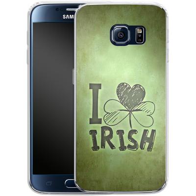Samsung Galaxy S6 Silikon Handyhuelle - I Love Irish von caseable Designs