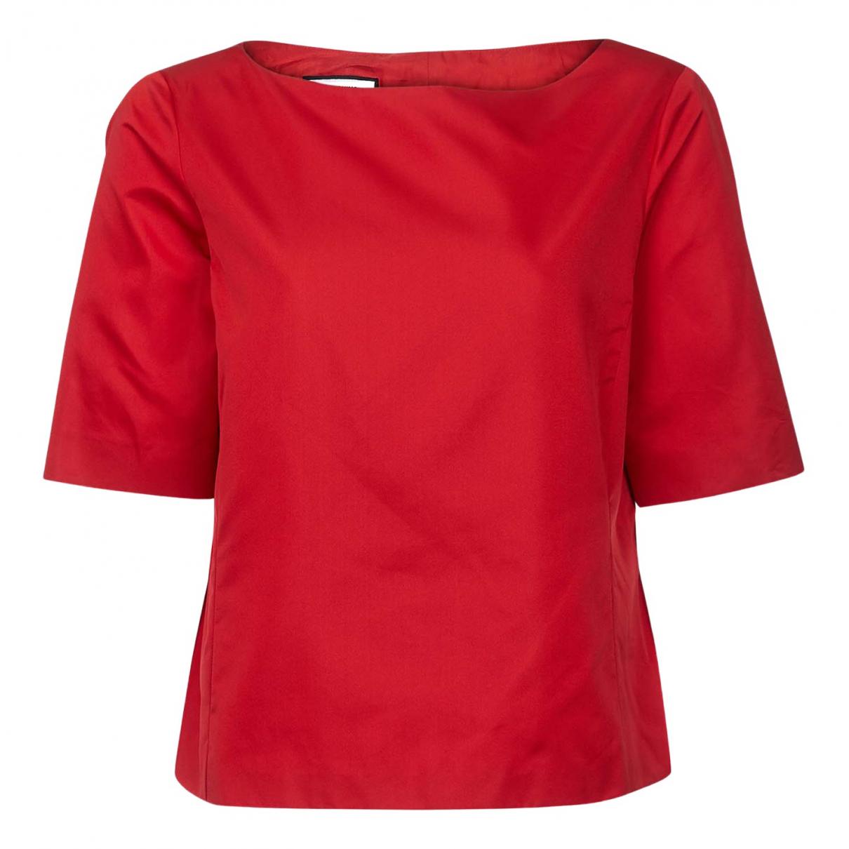 Moschino N Red Silk  top for Women 14 UK