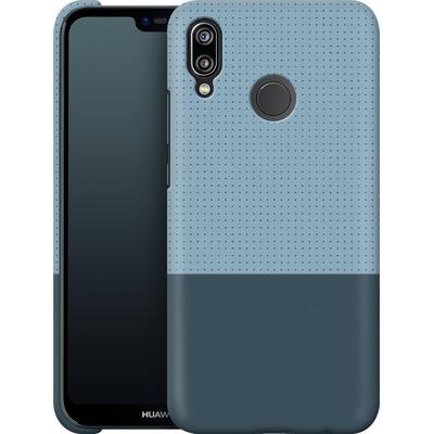 Huawei P20 Lite Smartphone Huelle - Dot Grid Blue von caseable Designs