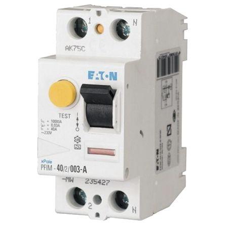 Eaton 1 + N 63 A Instantaneous RCD, Trip Sensitivity 300mA