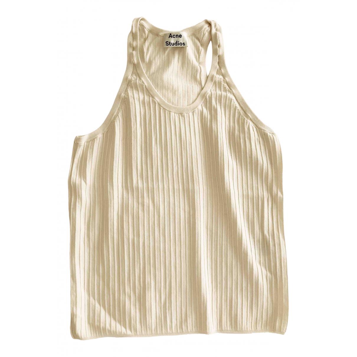 Acne Studios - Top   pour femme en coton - ecru