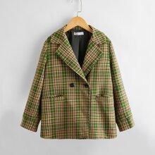 Mantel mit Taschen vorn und Karo Muster