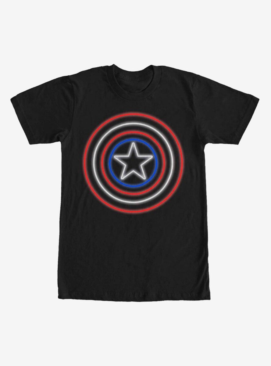 Marvel Captain America Shield Neon Light T-Shirt