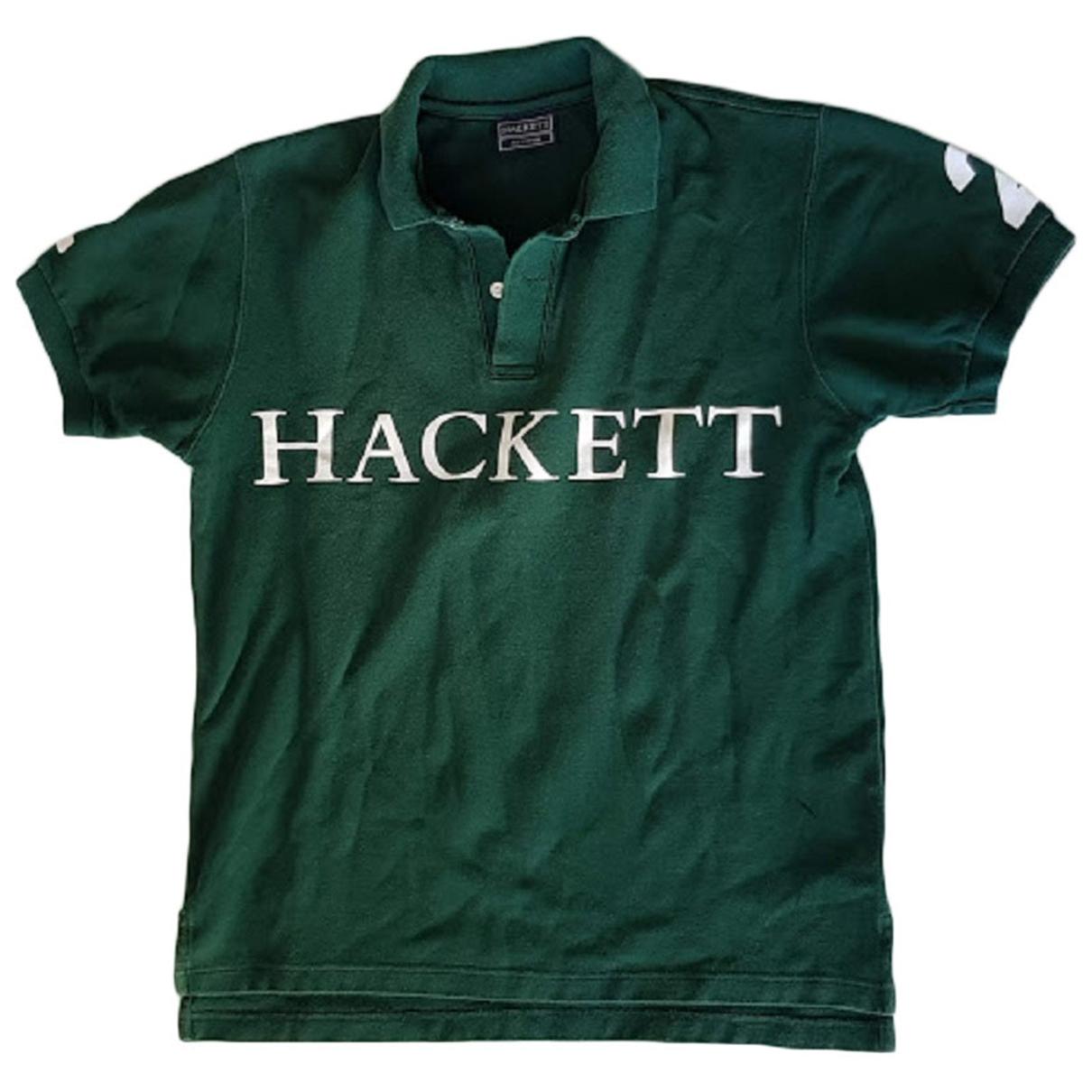 Hackett London - Polos   pour homme en coton - vert