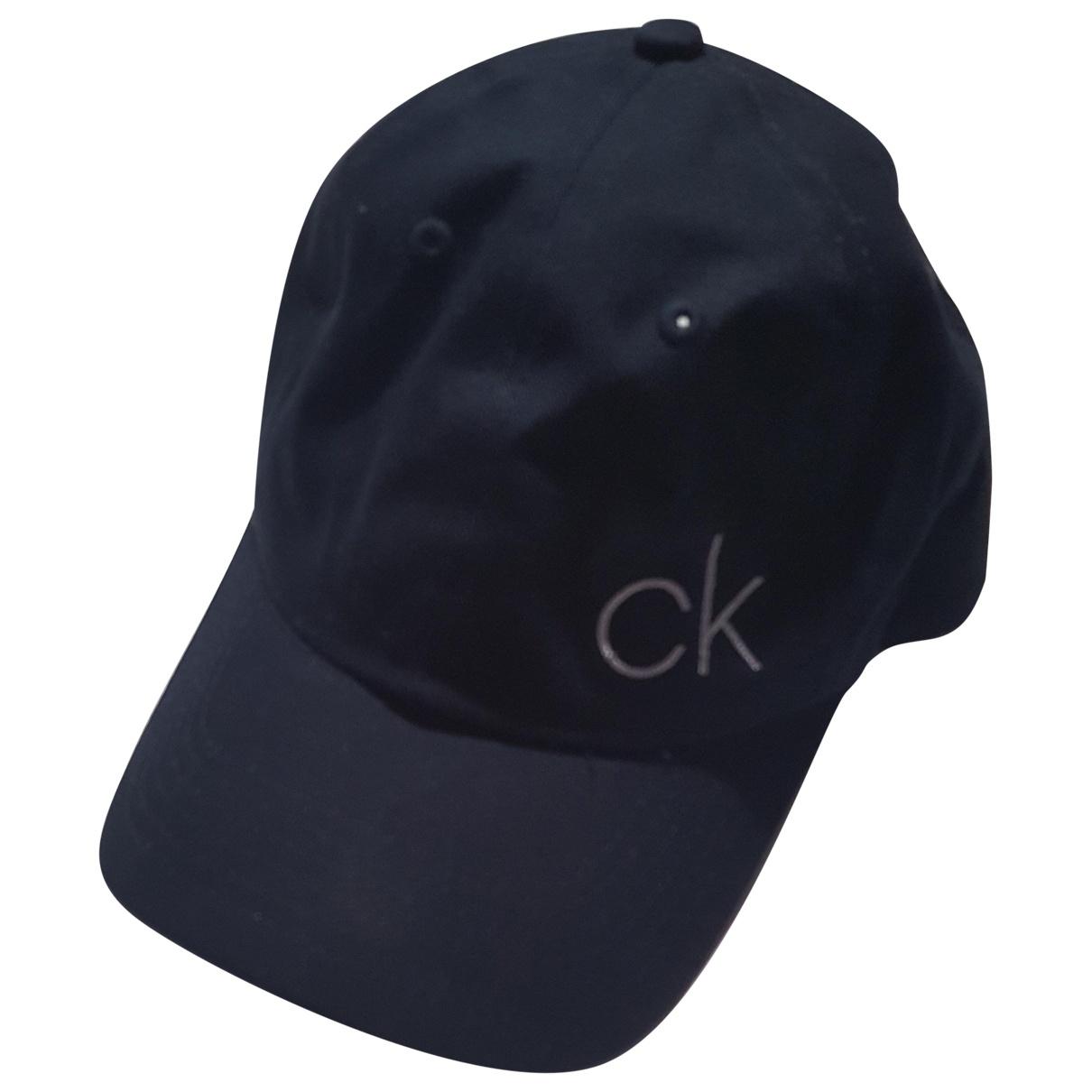 Calvin Klein - Chapeau & Bonnets   pour homme en coton - marine